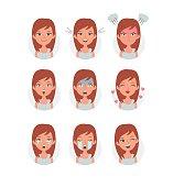 Girl emotions