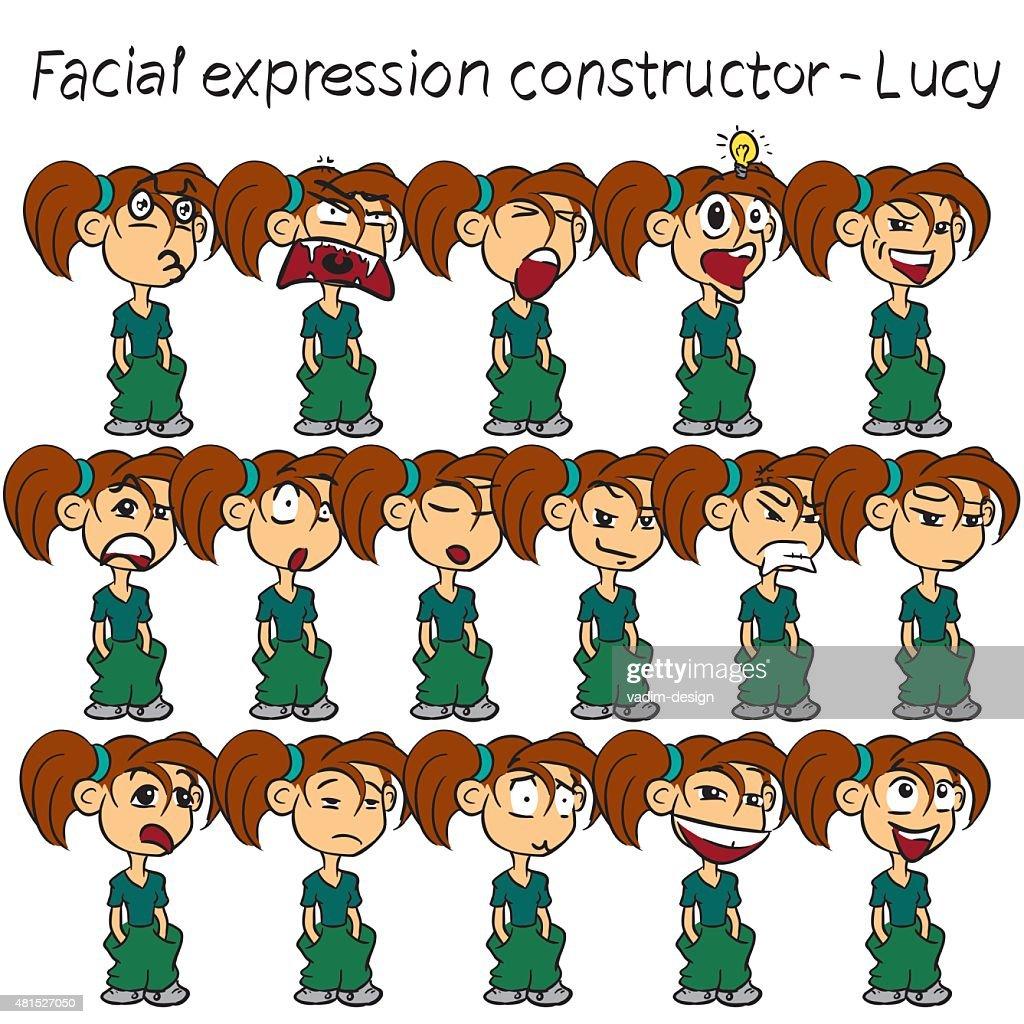 Girl facial expressions