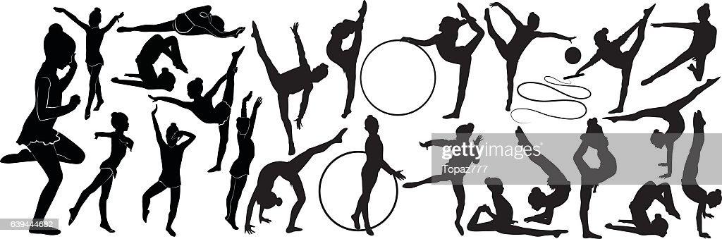 girl gymnast athlete isolated