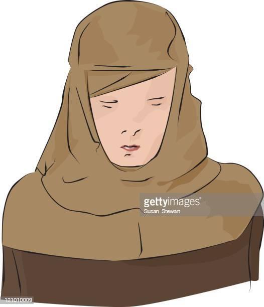Girl in a headscarf