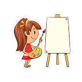 Girl painting