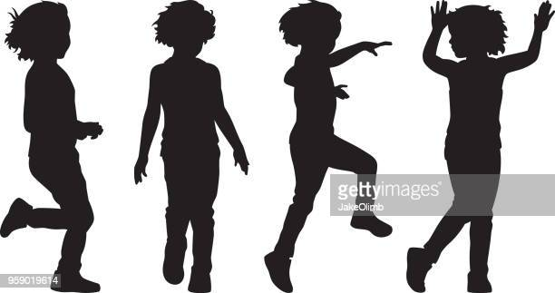 Girl Playing Silhouettes 1