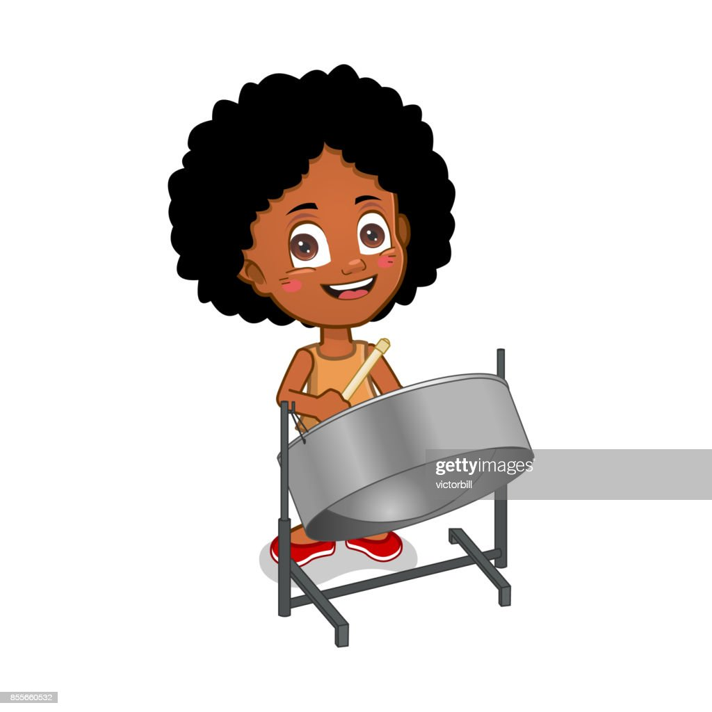 Girl playing steelpan