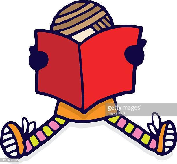 ilustraciones, imágenes clip art, dibujos animados e iconos de stock de chica libro de lectura - personas leyendo la biblia