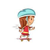 Girl skateboard