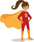 Girl super hero isolated