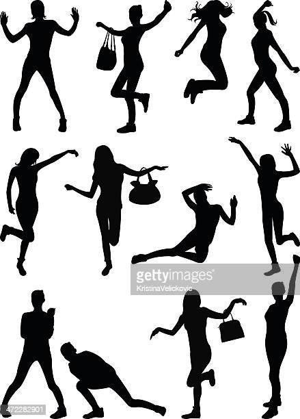 ilustraciones, imágenes clip art, dibujos animados e iconos de stock de girl - baile moderno