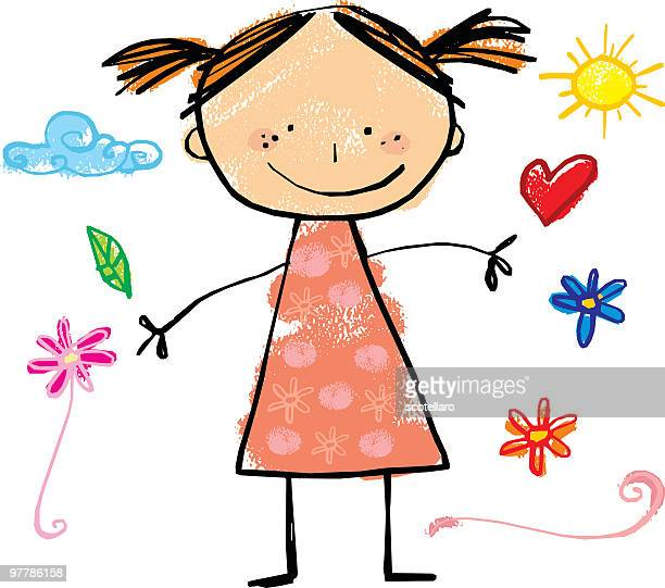 girl - innocence stock illustrations