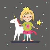 Girl with a unicorn