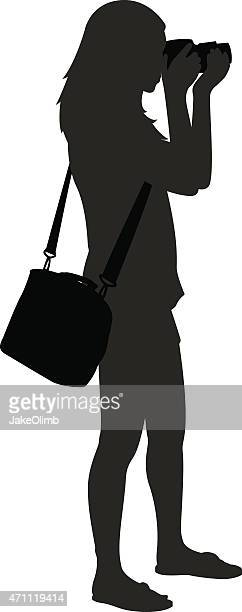 Girl with Camera Silhouette