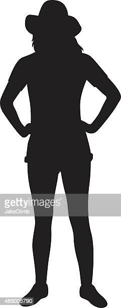 girl with hands on hip silhouette - hand on hip stock illustrations, clip art, cartoons, & icons