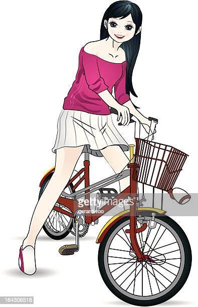 Girl-and-bicycle