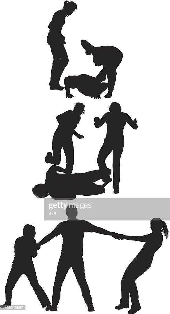 Girls beating a eve teaser