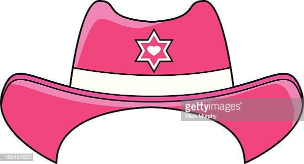 girls cowboy hat - cowboy hat stock illustrations, clip art, cartoons, & icons