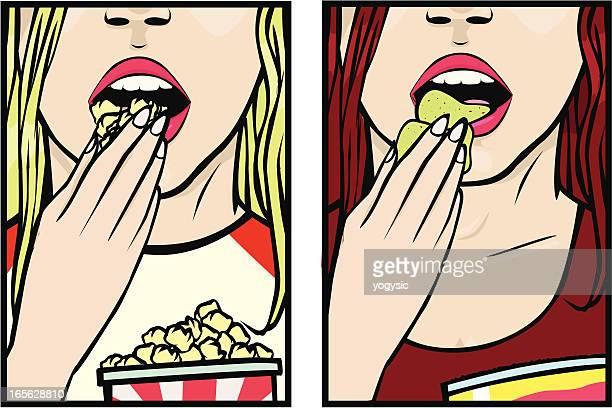 Mädchen Essen snacks