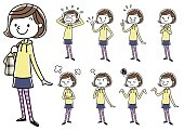 Girls: set, variations