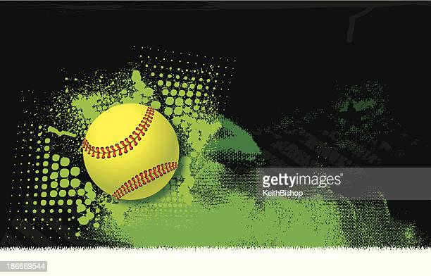 Girls Softball All-Star Background - Ball