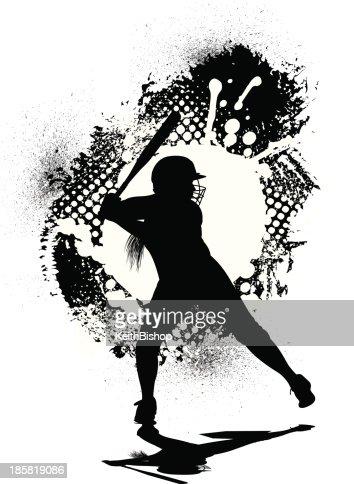 Girls Softball Allstar Grunge Graphic Batter stock ...