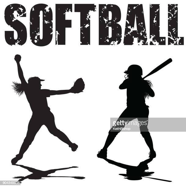 Girls Softball Pitcher and Batter with Typescript