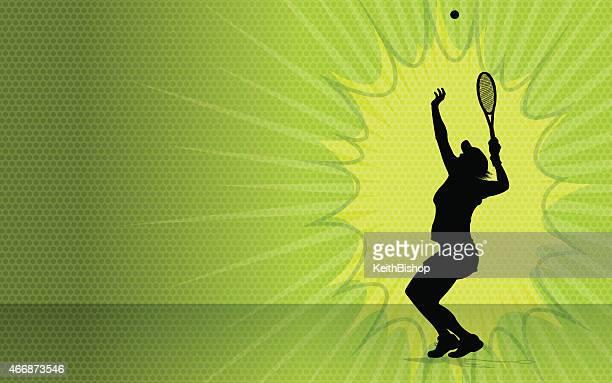 女子テニスバーストの背景 - ラケットスポーツ点のイラスト素材/クリップアート素材/マンガ素材/アイコン素材