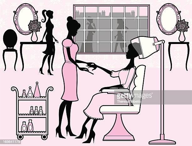 Girly Schönheits-Salon
