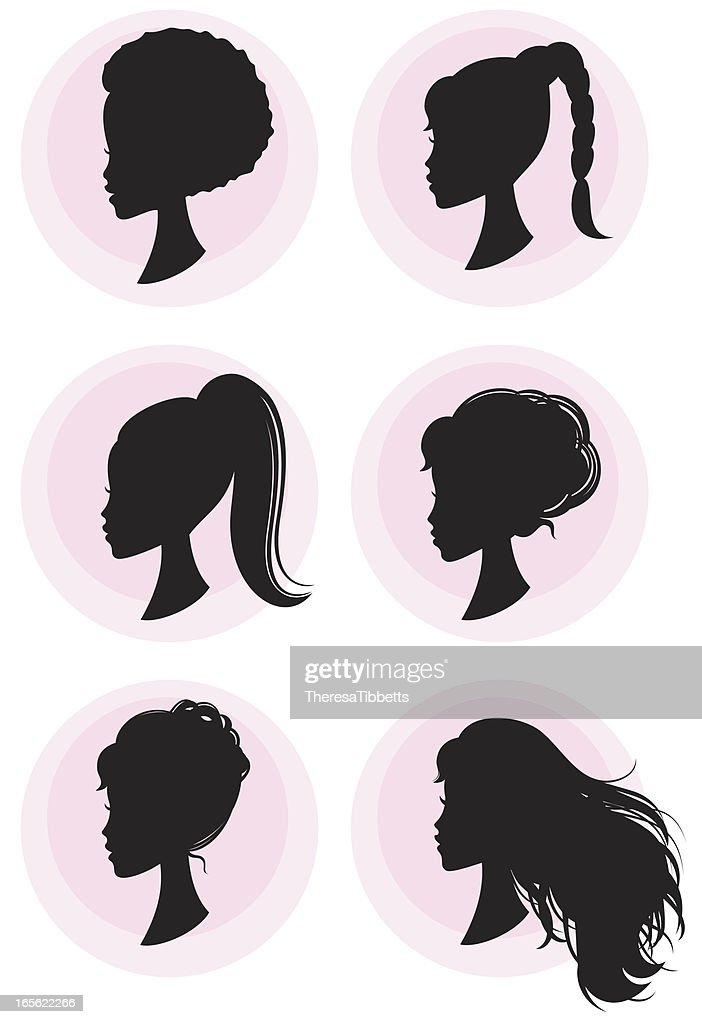 Girly Hairstyles : stock illustration