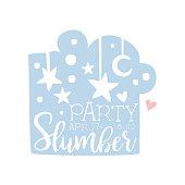Girly Pajama Party Invitation Card Template With Night Sky Inviting Kids For The Slumber Pyjama Overnight Sleepover