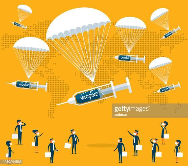 人々にワクチンを与える - 注射器 - 抗アレルギー薬点のイラスト素材/クリップアート素材/マンガ素材/アイコン素材