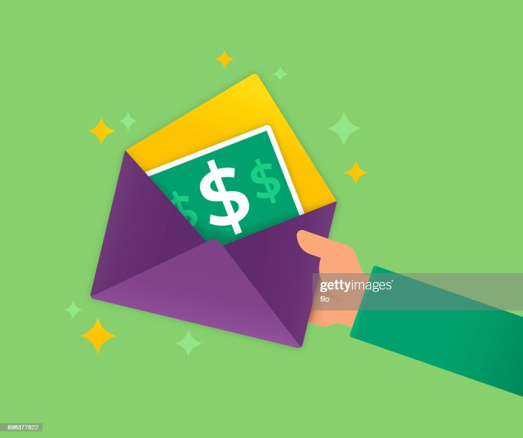 Giving a Gift Card : stock illustration