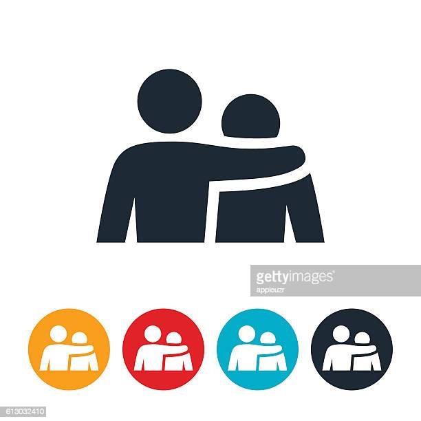 giving support icon - arm around stock illustrations