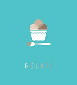 Logo pour glacier, identité graphique, nom, marque
