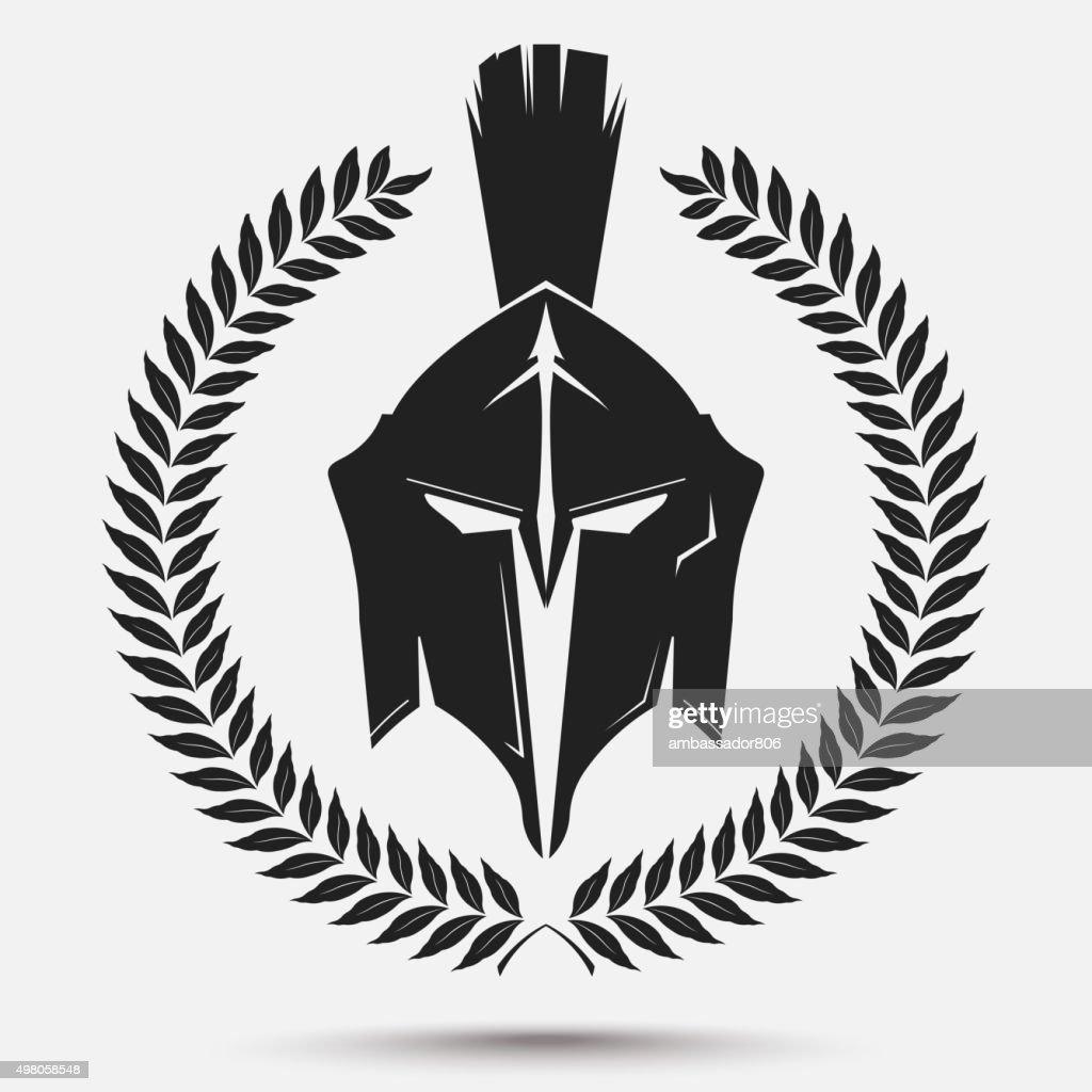 Gladiator helmet with laurel wreath