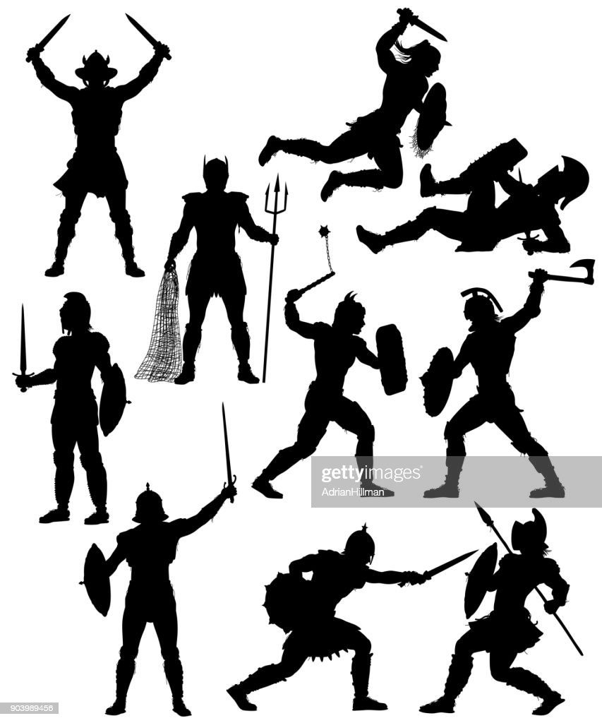Gladiator silhouettes