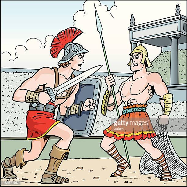 gladiator - gladiator stock illustrations, clip art, cartoons, & icons