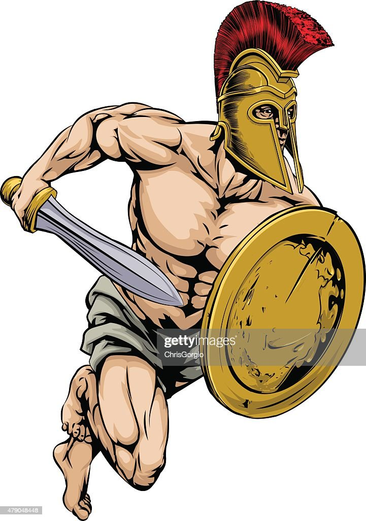 Gladiator warrior sports mascot