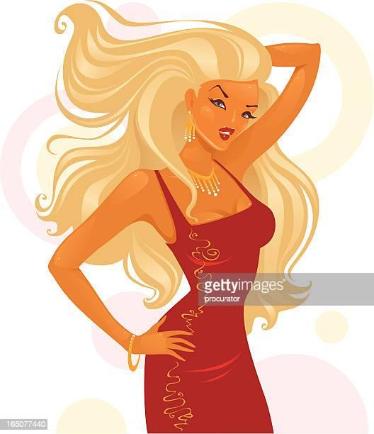 Glamour Blondes Mädchen