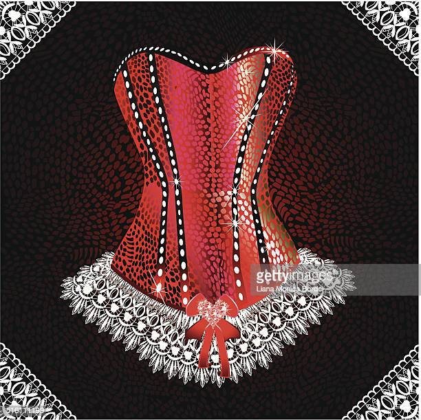 glamorous corset - en búsqueda stock illustrations