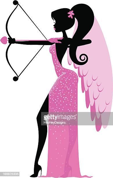 glamouröse amor - cupidon stock-grafiken, -clipart, -cartoons und -symbole
