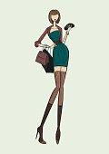 Glamour lady