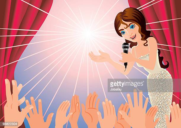 glamour presentation - applauding stock illustrations, clip art, cartoons, & icons