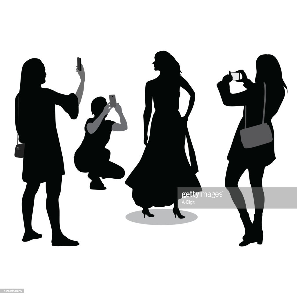 Glamour Shots : stock illustration