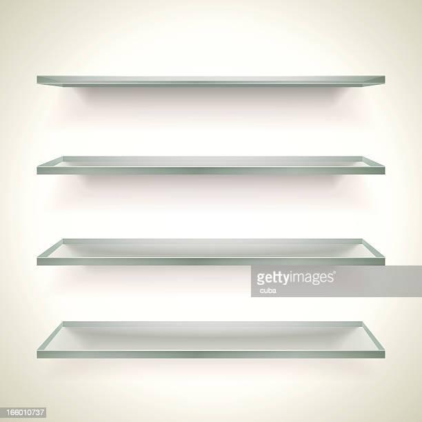 ガラスのブックシェルフ - 書店点のイラスト素材/クリップアート素材/マンガ素材/アイコン素材
