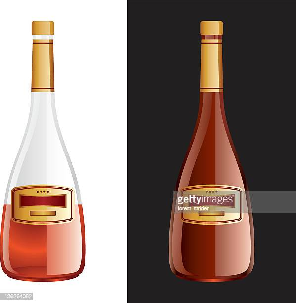 glass bottle for cognac - cognac region stock illustrations, clip art, cartoons, & icons