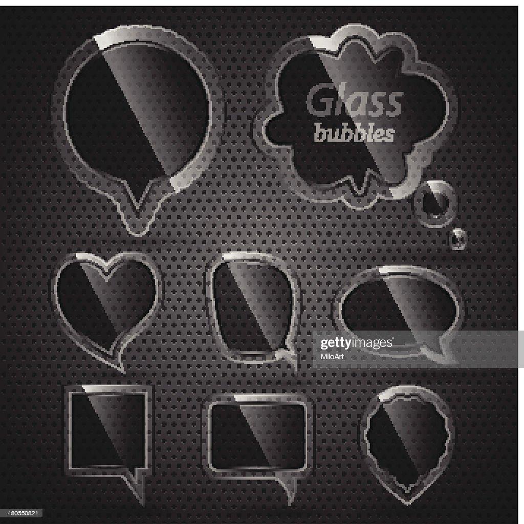 Glass bubbles for speech. : Vector Art
