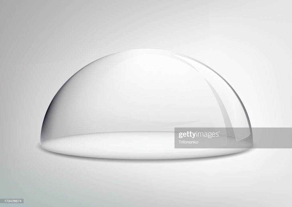 glass dome on a white background