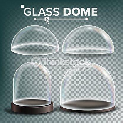 Fersk Glaskuppel Set Vector Werbung Design Glas Präsentationselement GI-45
