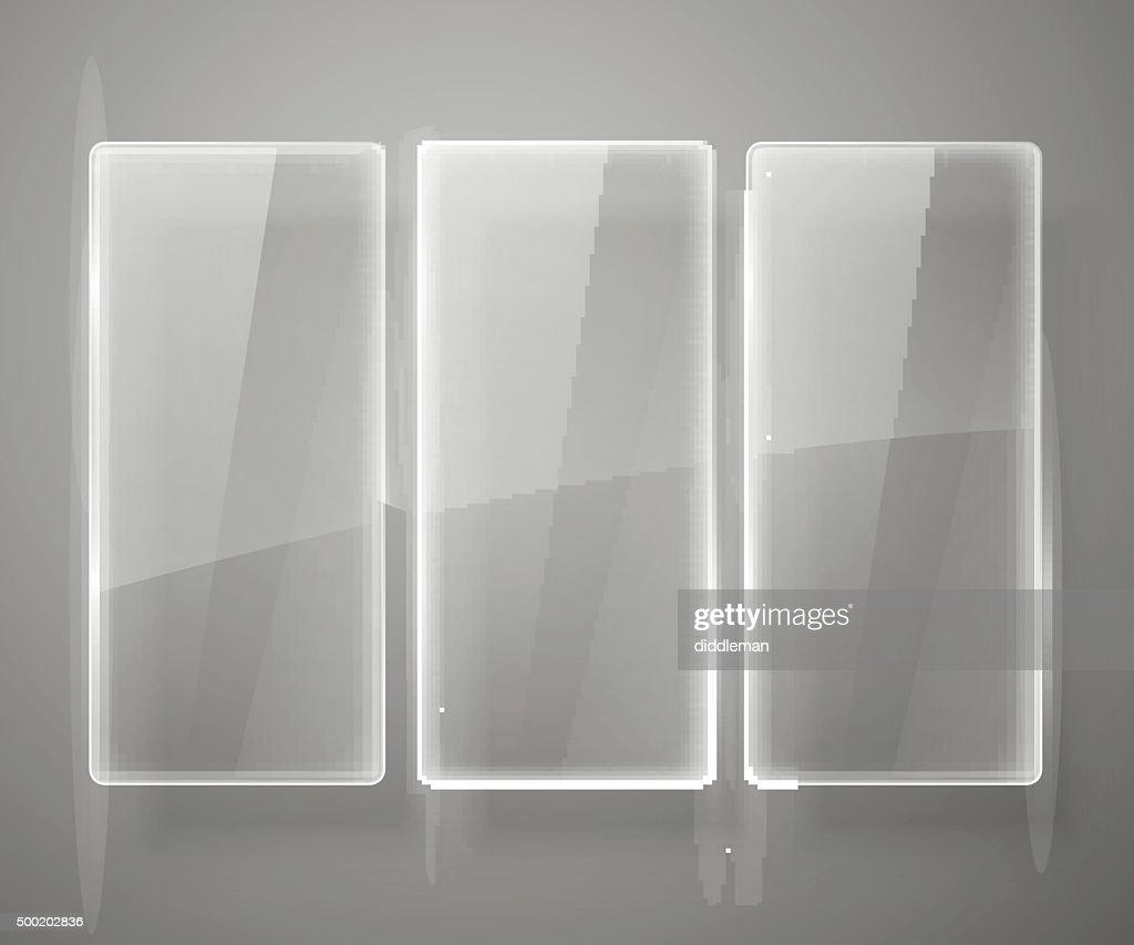 Glass framework Vector illustration