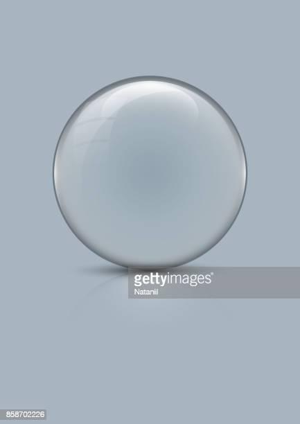ilustraciones, imágenes clip art, dibujos animados e iconos de stock de globo de cristal - esfera