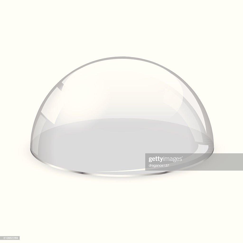 Glass half-sphere