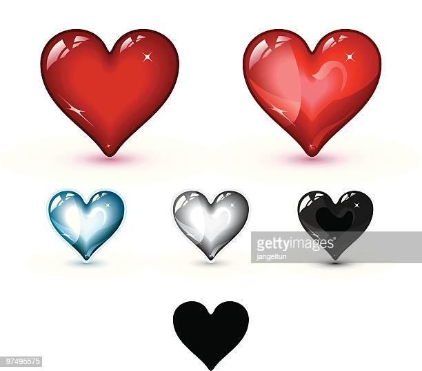 ガラスのハート - heart shape点のイラスト素材/クリップアート素材/マンガ素材/アイコン素材